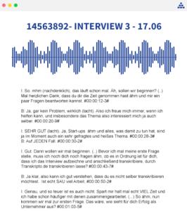 servicio de transcripción de entrevistas